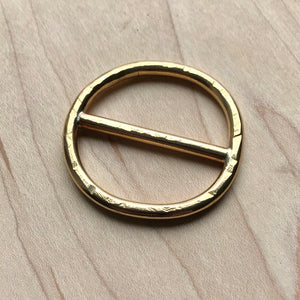 Brass scarf ring