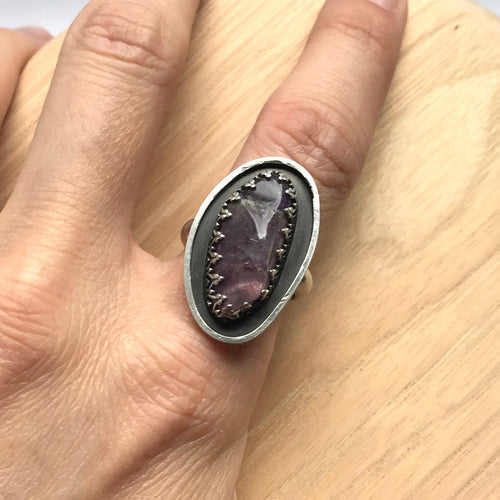 Amethyst silver ring (size 7.5)