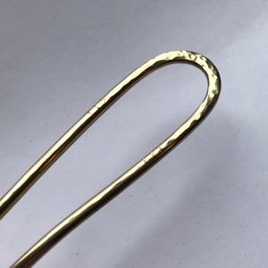 Hair accessory - forged brass