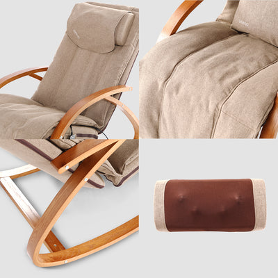 OWAYS 3D Massaeg Chair Brown Armrests