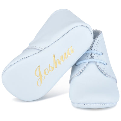 Classic NameDate Lace-Ups (best seller)-Baby Blue