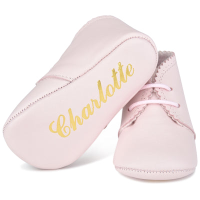Classic NameDate Lace-Ups (best seller)-Pretty In Pink