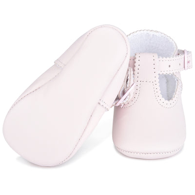 Our Classic NameDate T-Strap Girl Shoe Pink