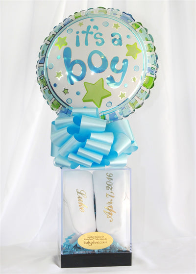 Personalize Baby Shoe Keepsake Gift Box For Boys