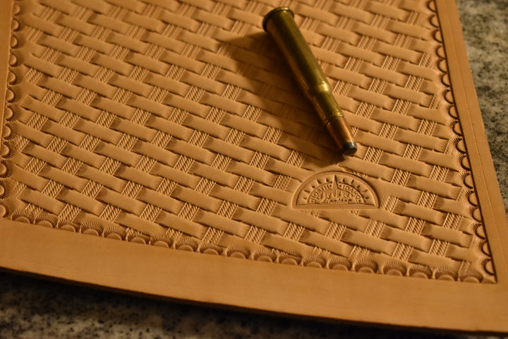 New Video!  Basketweave Stamping a Cartridge Cuff