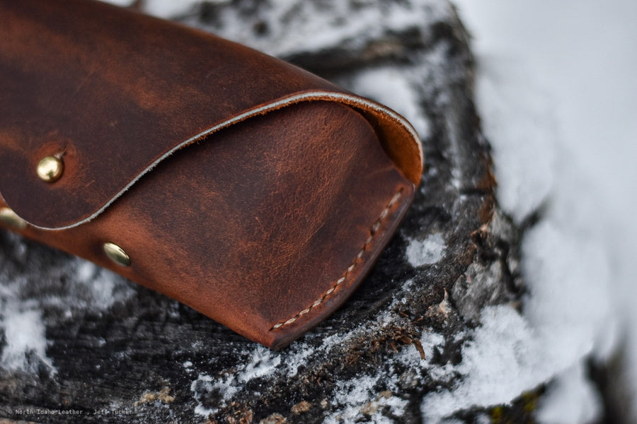 Sawtooth Eyeglass Case - North Idaho Leather