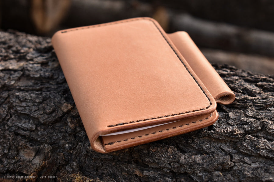 No.57 Field Notes Cover -Natural Oak - North Idaho Leather
