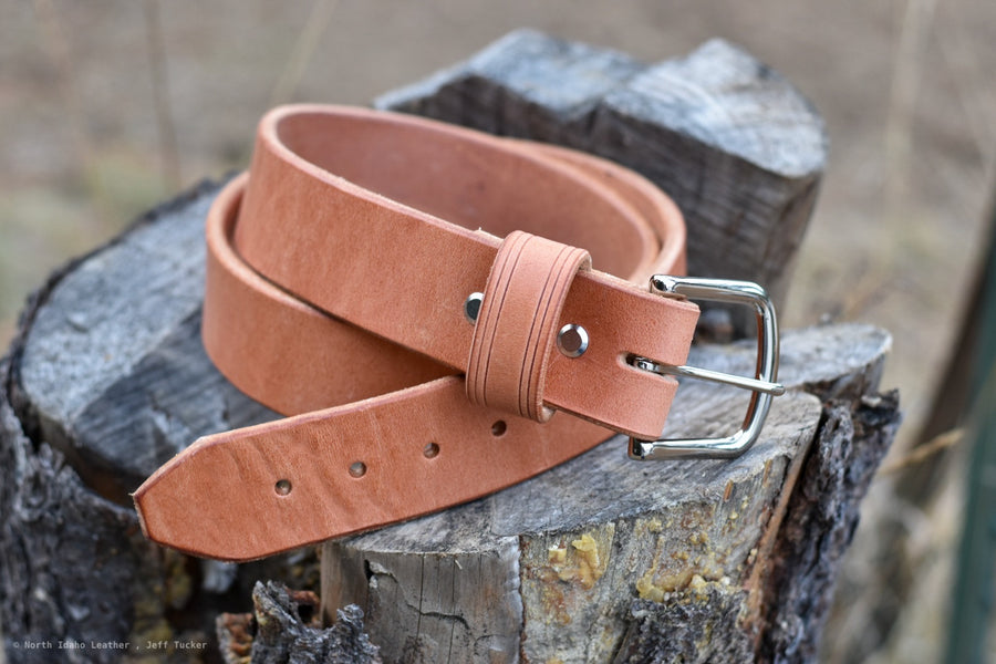 Heritage Belt - Russet Old World Harness - North Idaho Leather