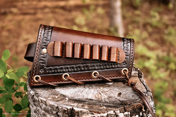 Cartridge Cuff - Vaquero Pattern - North Idaho Leather
