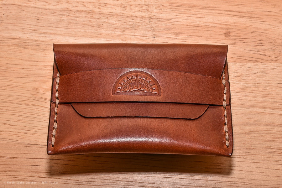 No. 42 Minimal Flap Wallet Buck Brown - North Idaho Leather