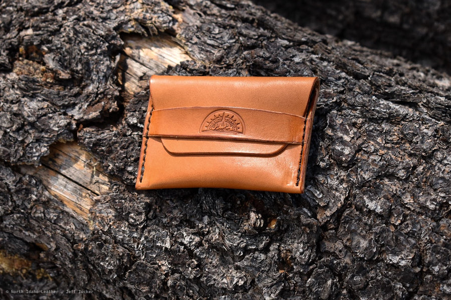 No. 42 Minimal Flap Wallet Russet - North Idaho Leather