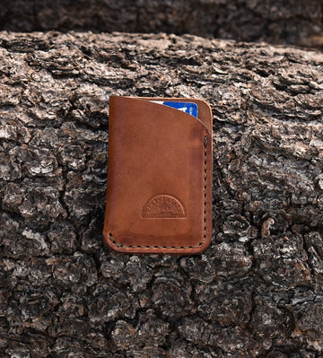 No. 27 Slim Card Wallet  Buck Brown - North Idaho Leather