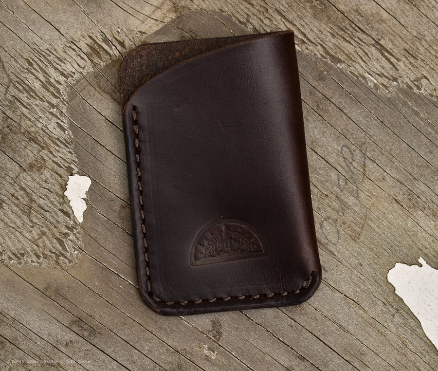 No.27 Slim Card Wallet Horween Chromexcel Brown - North Idaho Leather
