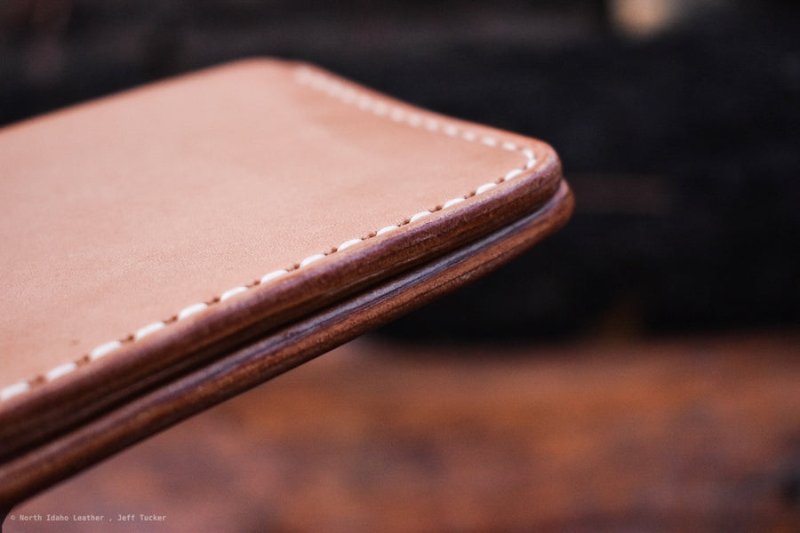 Old No.7 Natural Oak- Hand Stitched - North Idaho Leather