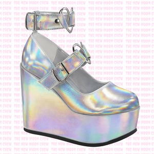 Poison - Silver Hologram Wedge