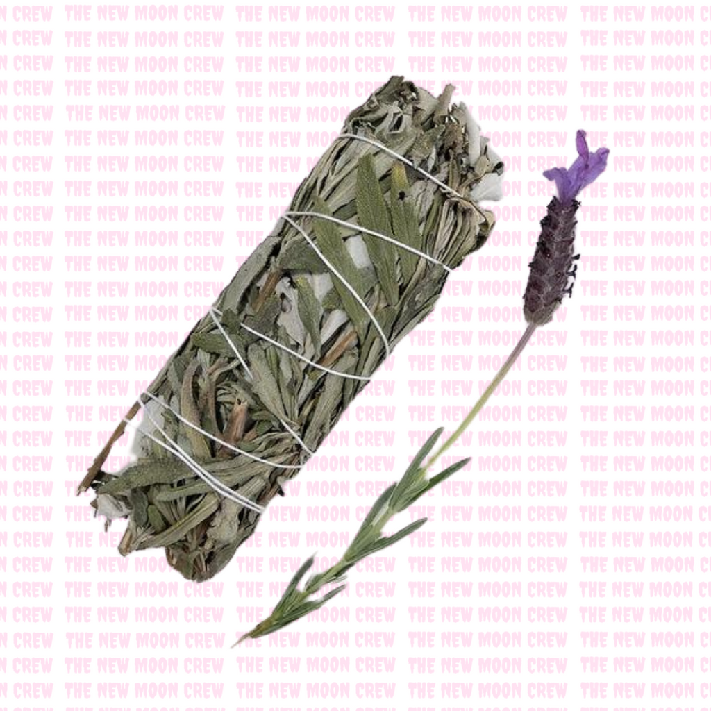 Small White Sage + Lavender Leaf Smudge