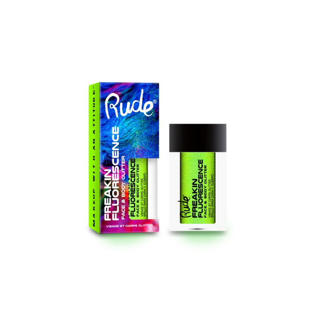 RUDE ✨ Freakin Fluorescence Face & Body Glitter - Rave Wave