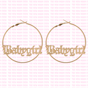 Babygirl Hoop Earrings