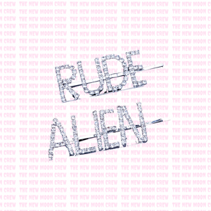 Rude Alien Bling Hairclips