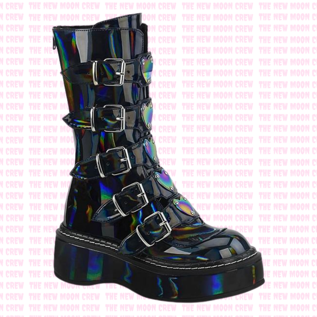 Emily - Hologram Mid Length Boot
