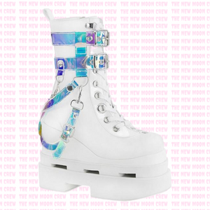 Eternal - White Holograph Ankle Boot