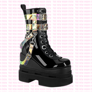 Eternal - Black Holograph Ankle Boot