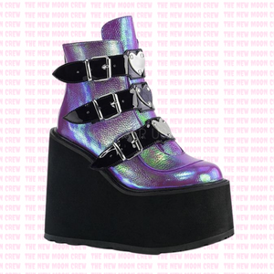 Swing - Purple Iridescent Ankle Boot