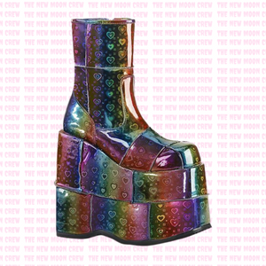 Stack - Rainbow Hologram Ankle Boot