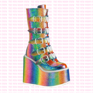 Swing - Rainbow Iridescent Mid Boot