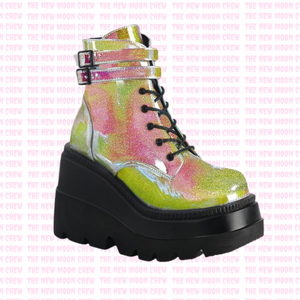 Shaker - Pink Glitter Shift Ankle Boot