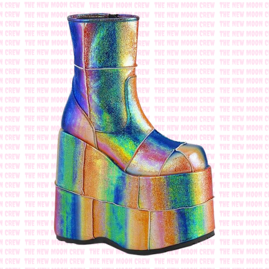 Stack - Rainbow Iridescent Ankle Boot