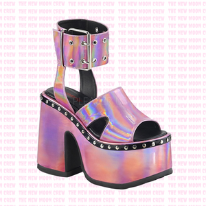 Camel - Pink Hologram Sandals
