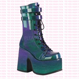 Camel - Purple Green Ankle Boot
