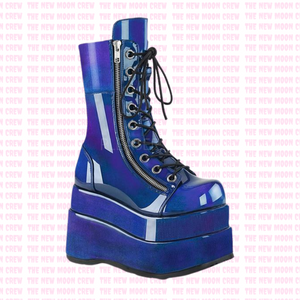 Bear - Blue Purple Ankle Boot