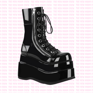 Bear - Gloss Black Ankle Boot