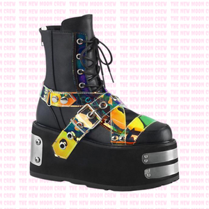 Swing - Black Hologram Ankle Boot