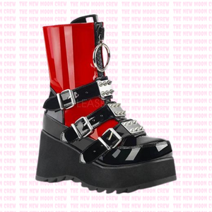 Scene - Gloss Red Ankle Boot