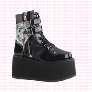 Damned - Black Confetti Ankle Boot