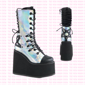 Swing - Holograph Strappy Mid Boot