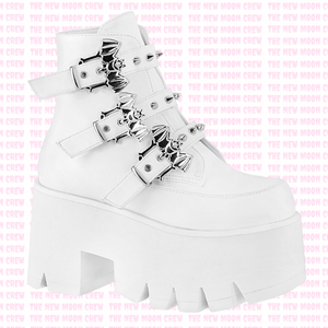 Ashes - White Ankle Boot