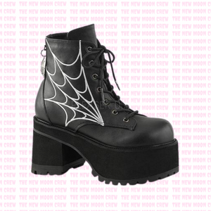 Ranger - Black Cobweb Ankle Boot