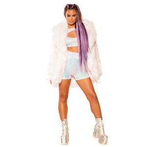 Ombre Light up Fur Coat