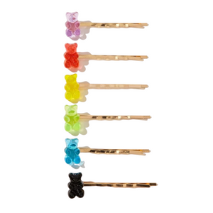 Gummi Hairclips - Pack of 6