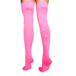 Pink Bombshell Thigh Stockings