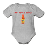 Hot Sauce Baby! Organic Babysuit - heather gray