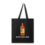 "Reusable Cotton ""My Hot Sauce Bag!"" - black"
