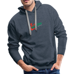 Men's Logo Hoodie - heather denim
