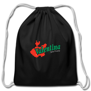 Logo Drawstring Bag - black