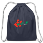 Logo Drawstring Bag - navy