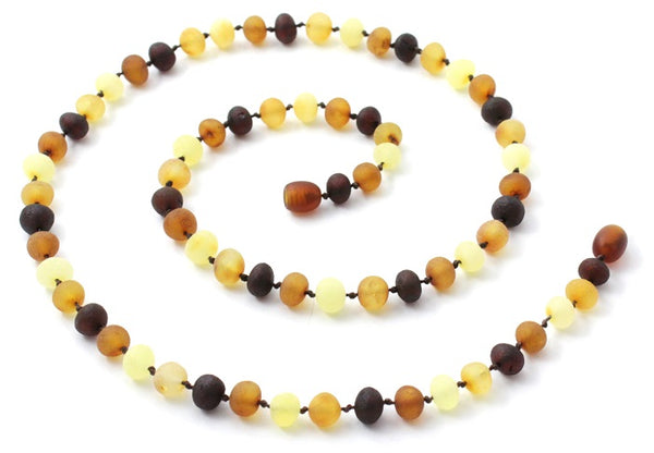 - 17.5 Inches Long Women and Men Polished Beads TipTopEco Baltic Amber Necklace for Adults